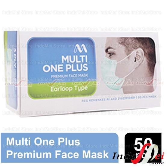 Foto Produk Masker Medis MultiOne Plus 3 ply Kemenkes 1 Box isi 50pcs Disposable - TidakPilihWarna dari Indomei Store