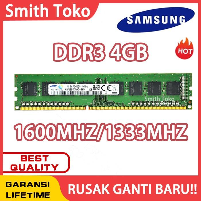 Foto Produk [BARU] RAM / MEMORY SAMSUNG PC DDR3 4GB - 4GB 1600MHZ dari SmithToko