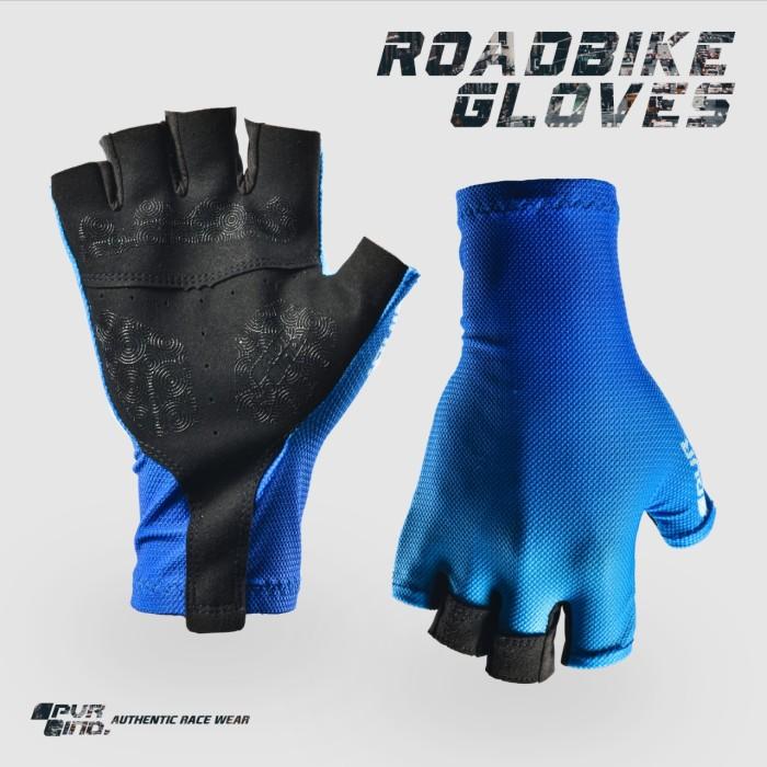 Foto Produk PVR IND Race Glove 03 Gradasi Biru Tua Muda - Sarung Tangan Roadbike - S dari Kaligung