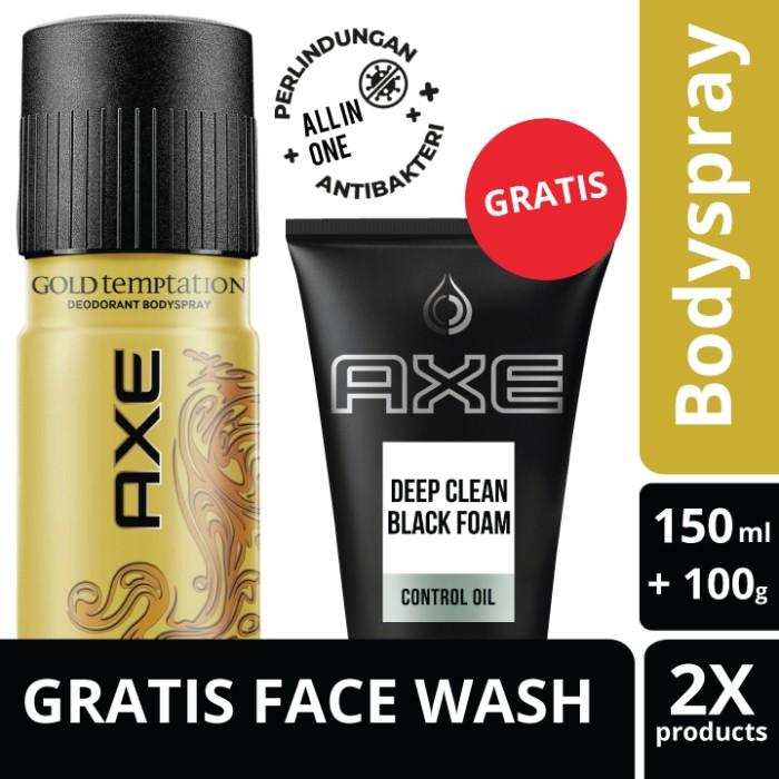 Foto Produk Axe Deo Bodyspray Gold Temptation 150Ml Free Deep Clean Foam 100G dari Unilever Official Store