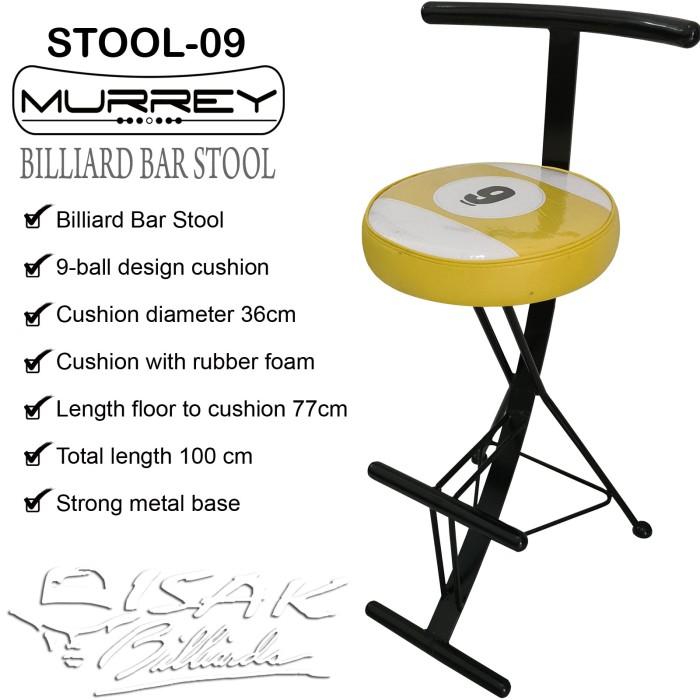 Foto Produk Billiard Bar Stool 9-ball Cushion - Kursi Tinggi Cafe Bangku Kafe Meja dari ISAK Billiard Sport Co.