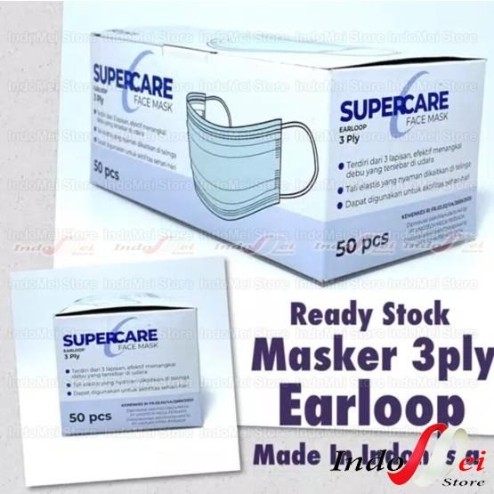Foto Produk MASKER SUPERCARE EARLOOP 3PLY 1BOX ISI 50PCS dari Indomei Store