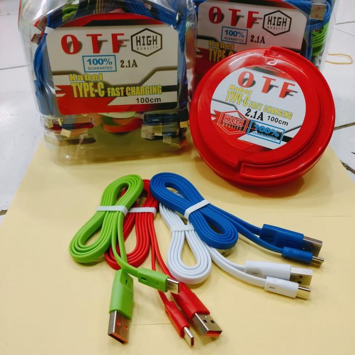 Foto Produk Kabel data OTF Type C 2.1A Kabel Charger OTF USB C isi 50psc 100cm dari vivan cell
