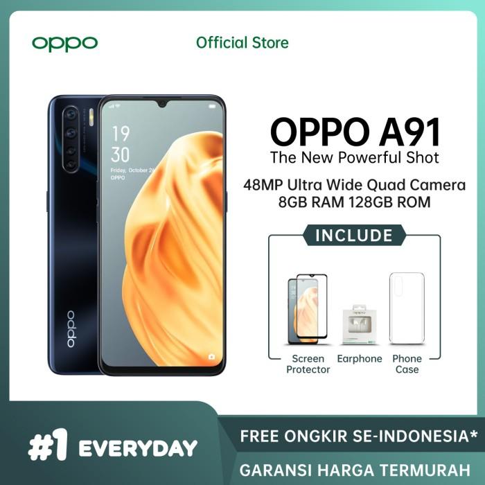 Foto Produk OPPO A91 Smartphone 8GB/128GB (Garansi Resmi) - Hitam dari OPPO OFFICIAL STORE