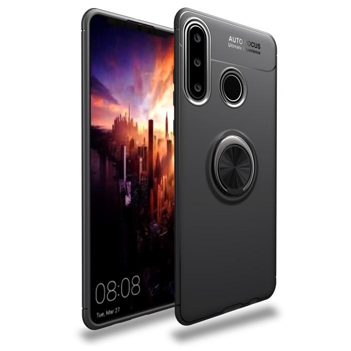 Foto Produk Huawei P30lite iRing Invisible TPU Soft Case - Hitam dari importking