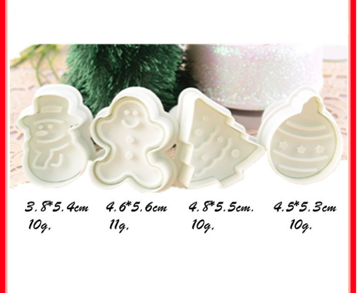 Foto Produk Cetakan cookies tema natal , cetakan biskuit tema natal , santa x'mas dari KAYO