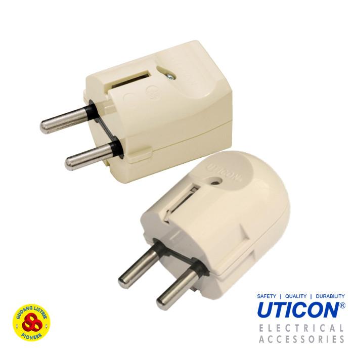 Foto Produk Uticon Steker Arde Bulat S-28 Round Plug S28 dari Gudang Listrik