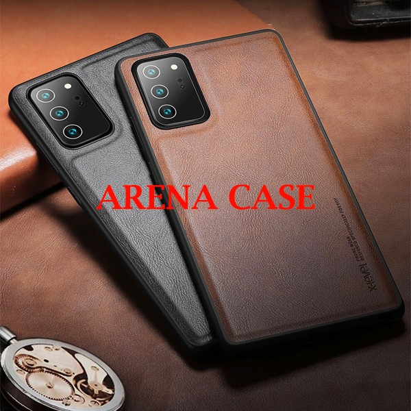 Foto Produk X-LEVEL LEATHER EARL III LUXURY SAMSUNG GALAXY NOTE 20 ULTRA HARDCASE - Brown dari Arena Case