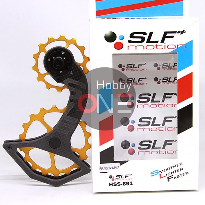 Foto Produk SLF MOTION HYPER SYSTEM PULLEY OSPW for SHIMANO 8000 9100 GOLD dari HobbyOne