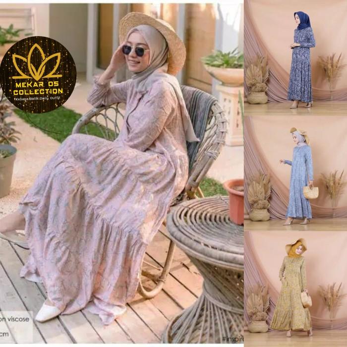 Foto Produk Leaf Dress Rayon / Homeydress Daster Rayon Etnik dari Mekar OS