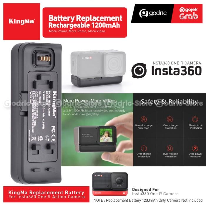 Foto Produk KINGMA Baterai for Insta360 ONE R Battery Replacement Insta 360 ONER dari Godric Store