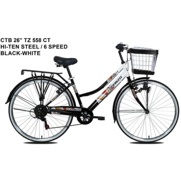 Jual Sepeda Mini Keranjang City Bike 26 Inch Turanza 558 Ct 6 Speed Kab Tangerang Sepeda Holic Tokopedia