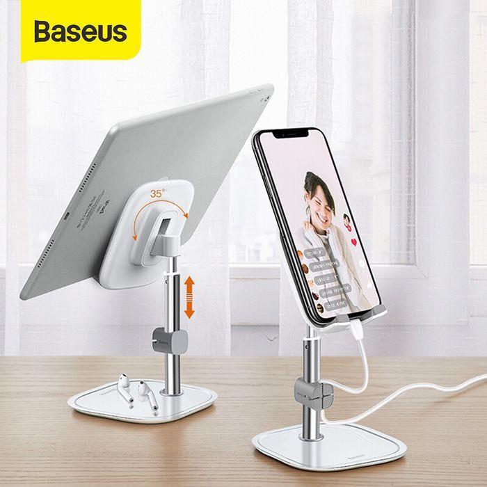 Foto Produk BASEUS PHONE HOLDER STAND HOLDER DUDUKAN HANDPHONE/PAD/DESKTOP BRACKET - Abu-abu dari Baseus Official Store