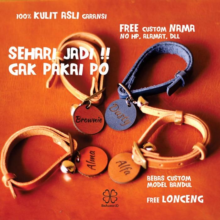 Jual Kalung Kucing Kulit Asli Custom Nama Model C Kuning Kota Depok Beawear Id Tokopedia
