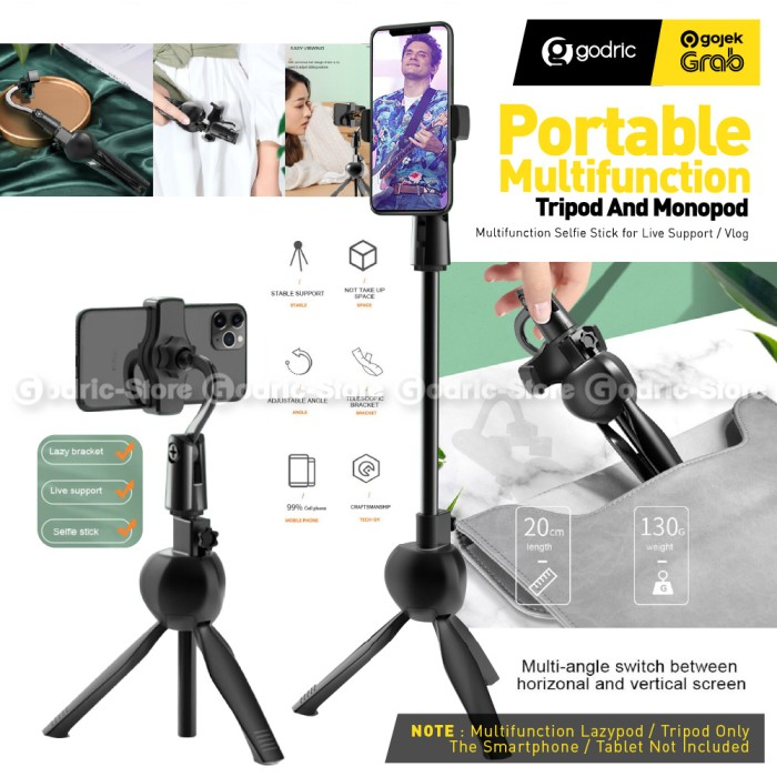 Foto Produk S8 Plastic Lazypod Tripod Multifungsi 360 Holder Stand Smartphone HP dari Godric Store