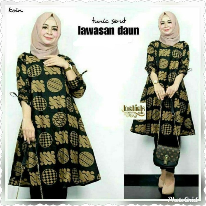 Foto Produk Baju blouse tunik atasan wanita jumbo bigsize batik katun prima ld:120 dari TABASAMA