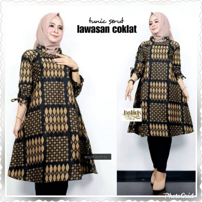 Foto Produk Baju blouse tunik atasan wanita jumbo batik katun prima halus ld 120 dari TABASAMA