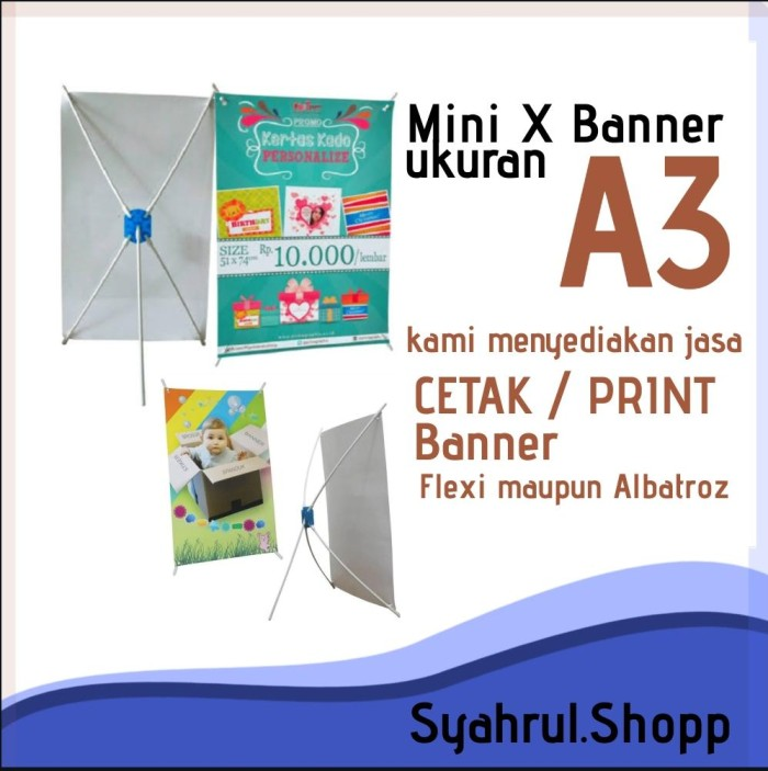 Jual Mini X Banner A3 Rak Kertas Promosi Kota Tangerang Selatan Syahrul Shopp Tokopedia