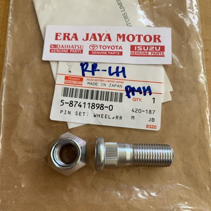 Foto Produk Baut mur roda belakang kiri isuzu elf engkel NHR55-NKR55 original dari era jaya motor
