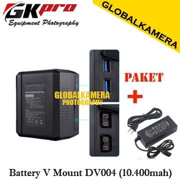 Foto Produk GKPRO V-Mount Battery DV004 With two D-tap / Usb ports 10400mAh dari GLOBALKAMERA