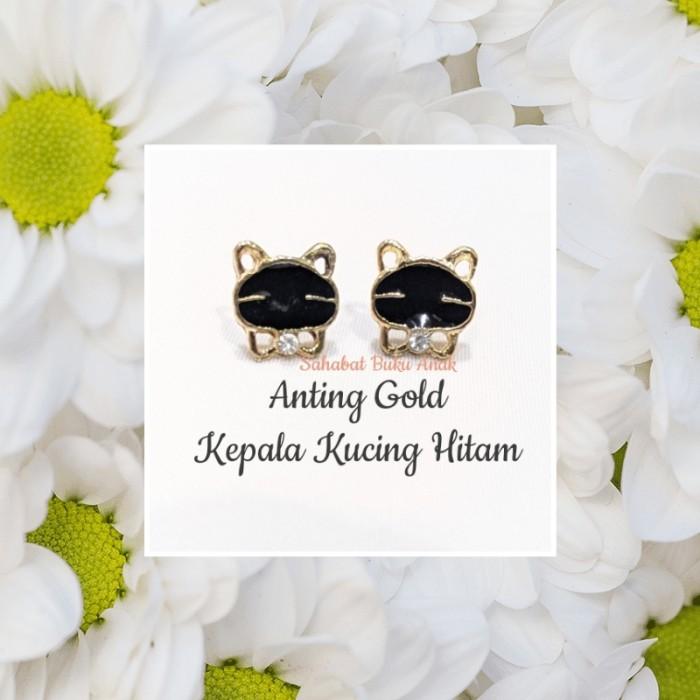Foto Produk Anting wanita Gold Kepala Kucing Hitam dari Sahabat Buku Anak