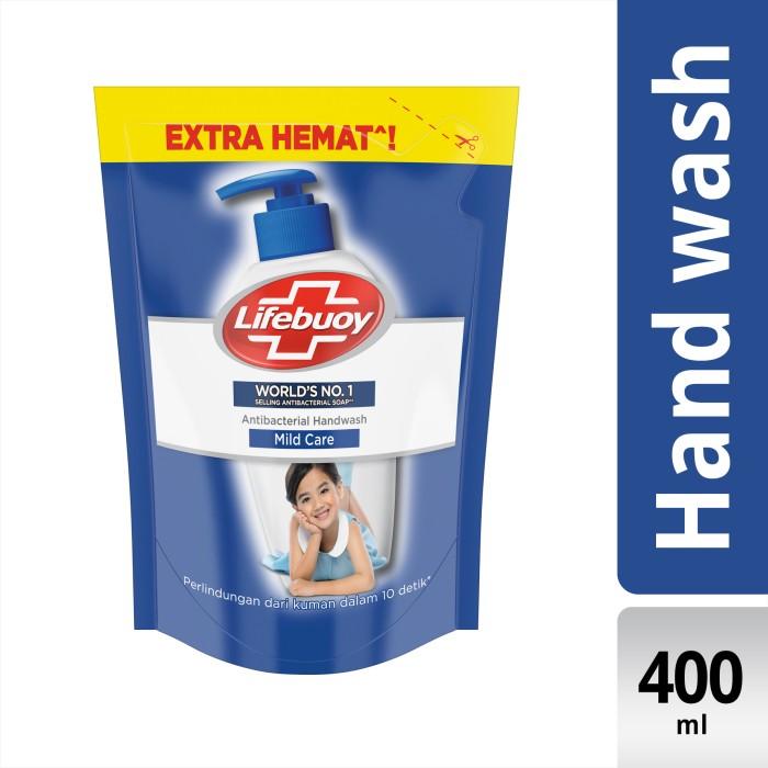 Foto Produk Lifebuoy Sabun Cuci Tangan Anti Bakteri Mild Care Refill 400Ml dari Unilever Official Store