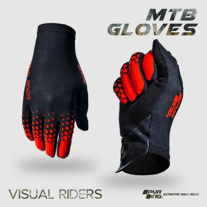 Foto Produk Sarung Tangan Sepeda Full Finger PVR 02 MERAH - S dari Kaligung