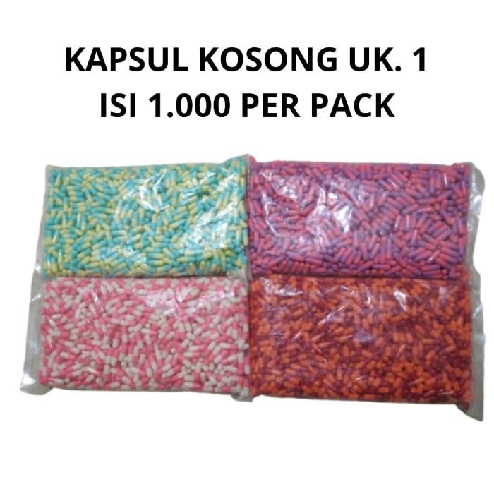 Foto Produk Kapsul Kosong no. 1 / Capsule INDO ukuran 1 isi 1.000 pcs dari Gudang Sehat Store