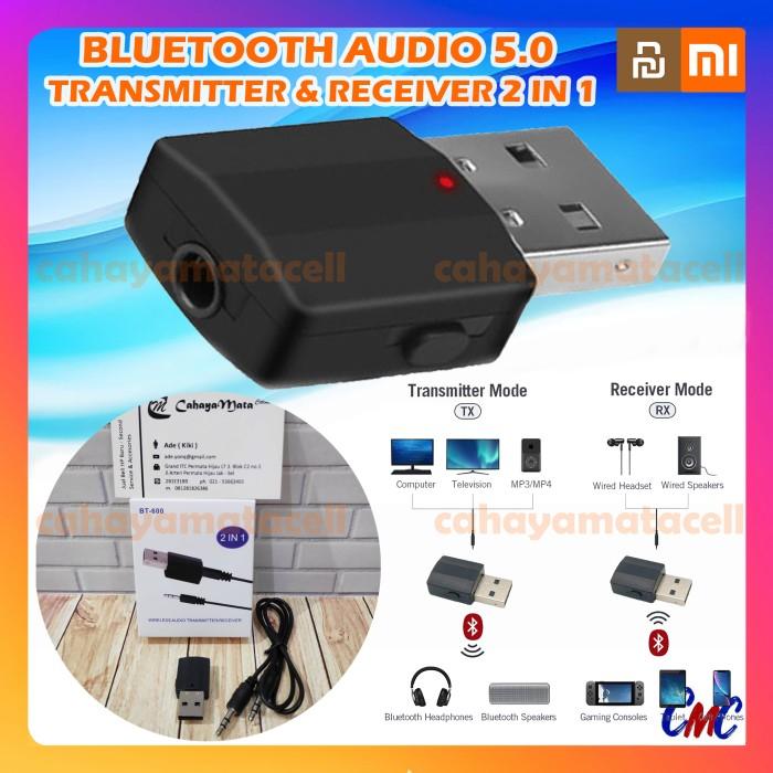 Foto Produk Bluetooth Transmitter Receiver 5.0 Wireless 2 in 1 Audio Portable 2in1 dari cahayamatacell