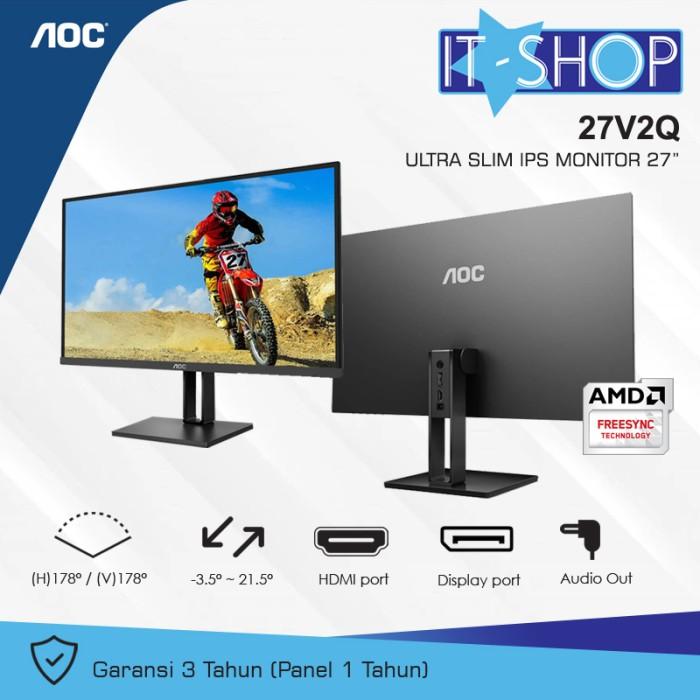 Foto Produk AOC Monitor 27 inch 27V2Q dari IT-SHOP-ONLINE