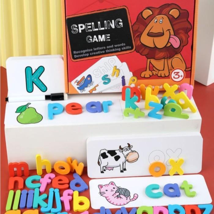 Foto Produk mainan edukasi anak mencocokan kosakata&menulis-Spelling game phonic dari AUTO KID II
