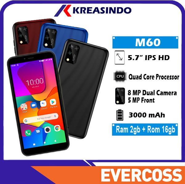 Foto Produk Evercoss M60 2/16 Ram 2gb Internal 16gb Garansi Resmi - Hitam dari Kreasindo Online