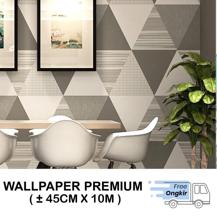 Foto Produk Wallpaper Dinding Stiker Dinding Segitiga Hitam Uk 45cm x 10m - 016 dari Supplier Dekorasi