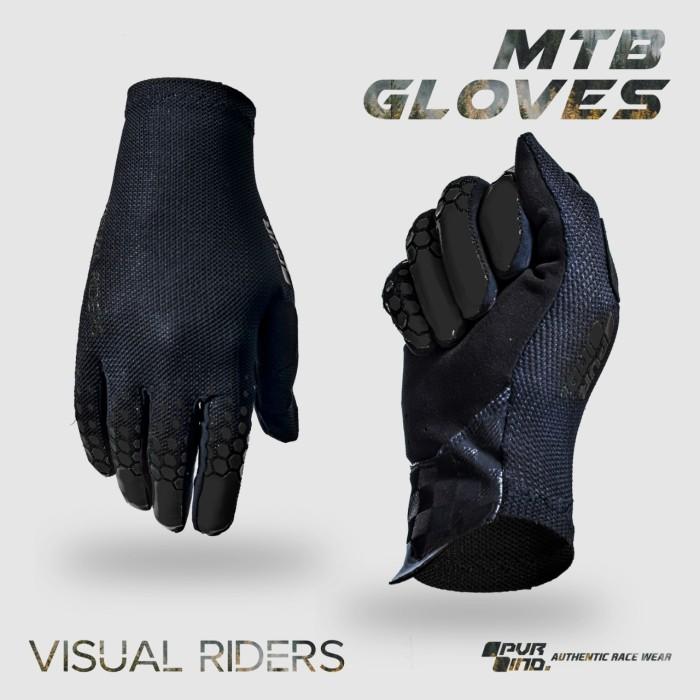 Foto Produk Sarung Tangan Sepeda Full Finger PVR 05 Hitam - S dari Kaligung