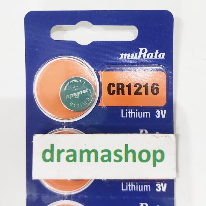 Foto Produk Baterai Batre Jam Kancing Kalkulator CR1216 CR 1216 murata Original dari dramashop