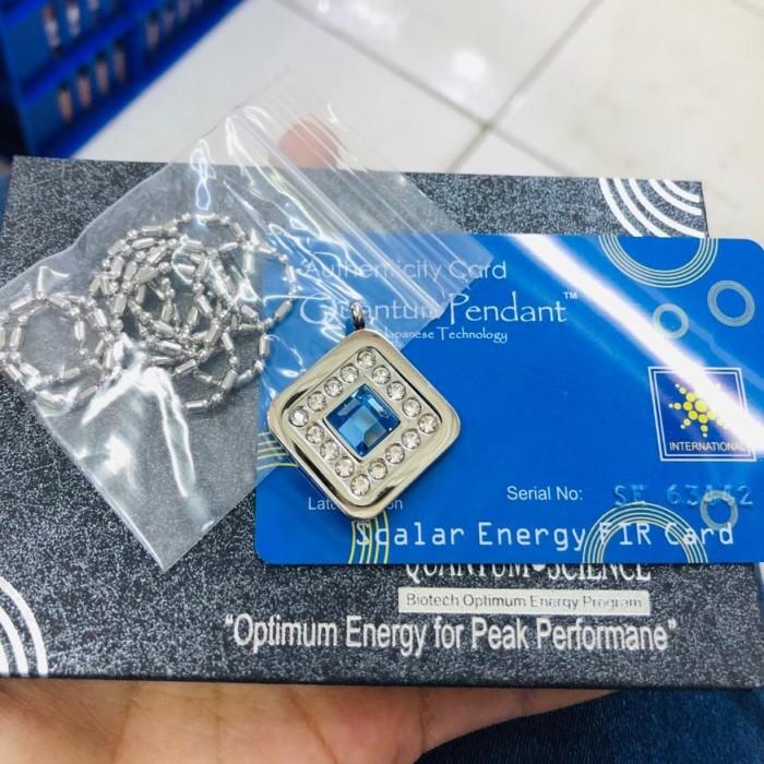 Foto Produk Kalung Kesehatan Quantum Motif Segi Empat Permata Biru dari Vintaco