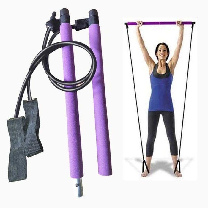 Foto Produk Alat Olahraga Bar Stick Tali Stretching Pilates Yoga Fitness RIDEFORCE dari evencio shop
