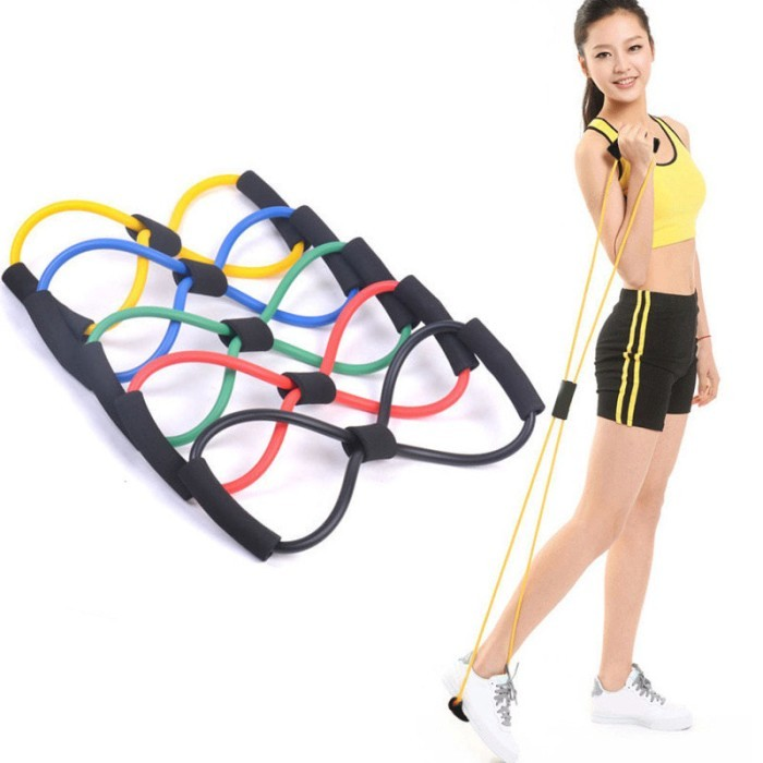 Foto Produk Resistance Band Arms Tali Stretching Yoga Fitness Wanita Exercises Gym dari evencio shop