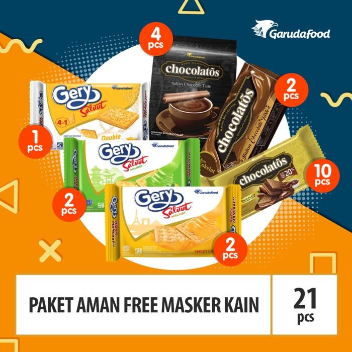 Foto Produk Paket Aman Free Masker Kain, New Normal dari GarudaFood