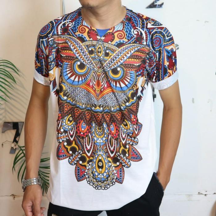 Foto Produk Size L&XL baju kaos distro printing owl pria trending keren kekinian - L dari Man Store Gallery