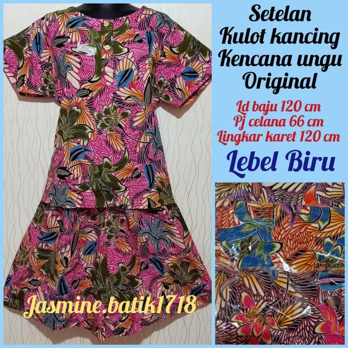 Foto Produk SETELAN KULOT KANCING KENCANA UNGU KUB dari jasmine.batik1718