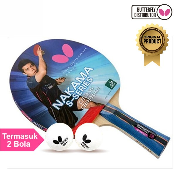 Foto Produk Bet Pingpong Tenis Meja Raket Pingpong Tenis Meja Butterfly Nakama S9 dari Alat Olahraga ID