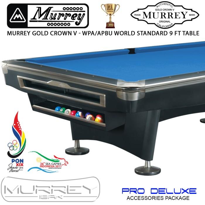 Foto Produk Murrey Gold Crown V Pro Deluxe 9 ft Pool Table - Meja Billiard Biliar dari ISAK Billiard Sport Co.