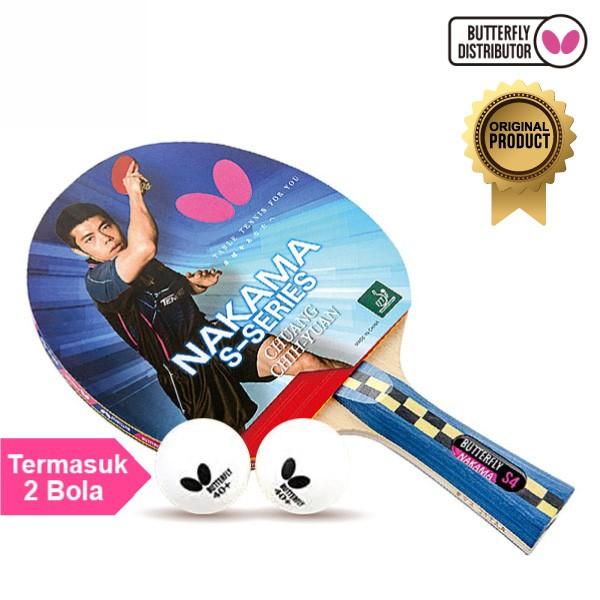 Foto Produk Bet Pingpong Tenis Meja Raket Pingpong Tenis meja Butterfly Nakama S4 dari Alat Olahraga ID