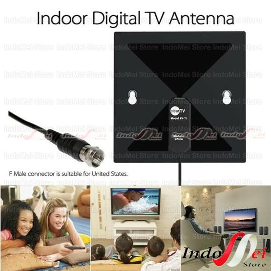 Foto Produk Clear Tv X - 71 HDTV Digital Indoor Antena Dalam Model Kotak X-71 HD dari Indomei Store