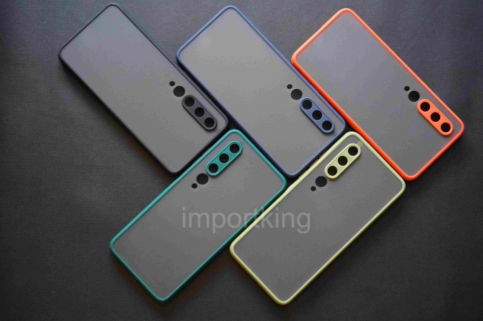 Foto Produk Xiaomi Mi 10 Frosted camera protection - Hitam dari importking