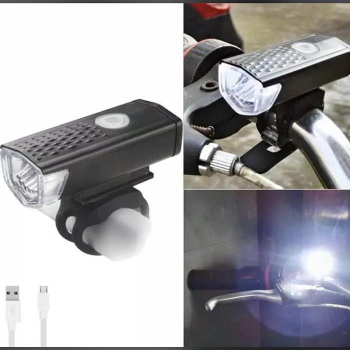 Foto Produk Lampu Depan Sepeda LED - USB Bike Light Rechargeable dari AnerStore