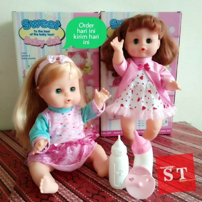 Foto Produk Sweet Baby Doll Mainan Boneka Bisa Bersuara Seperti Bayi, Pipis - Kuning dari StoryOfToys
