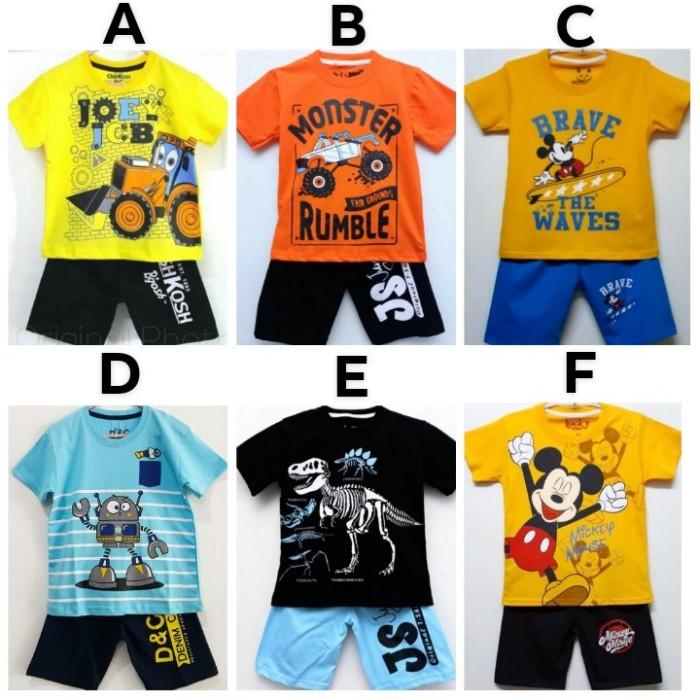 Foto Produk Setelan Anak cowok size 7-10 Motif karakter dari servia shop
