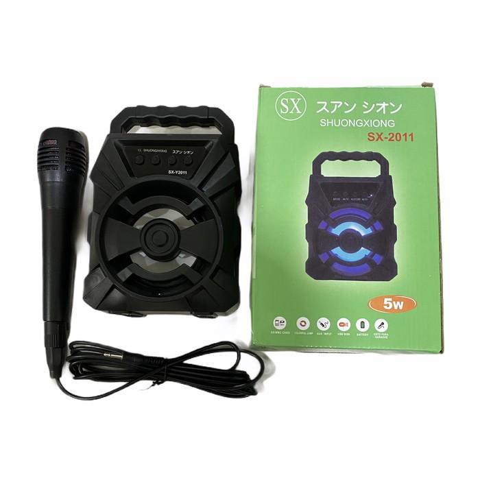 Foto Produk NEW SPEAKER Sx-2011A Speaker bonus Mic Bluetooth Portable Karaoke dari grosirltc